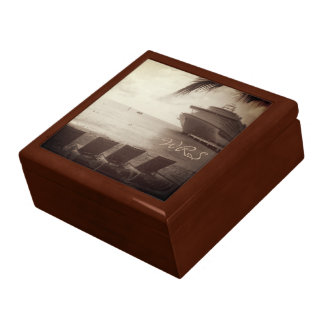 Ship in Sepia Monogrammed Gift Box