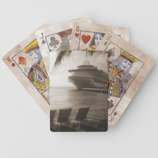 Ship in Sepia Playing Cards