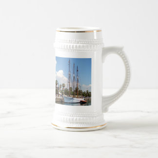 Ship in the Harbour Beer Stein