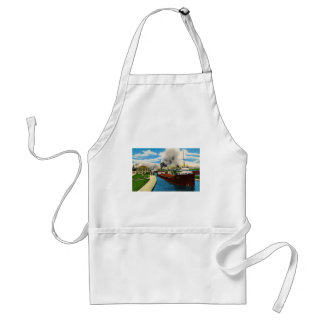 Ship in the Locks,  Sault Ste. Marie, Michigan Adult Apron