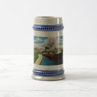 Ship in the Locks,  Sault Ste. Marie, Michigan Coffee Mug