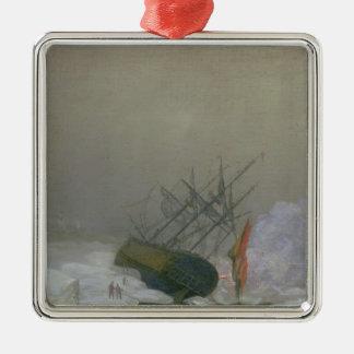 Ship in the Polar Sea, 12th December 1798 Metal Ornament