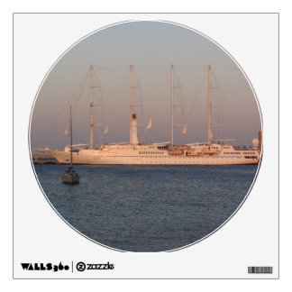Ship in the Rhodes Wall Decal