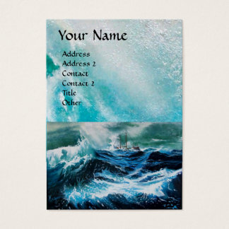 Ship In the Sea in Storm Business Card