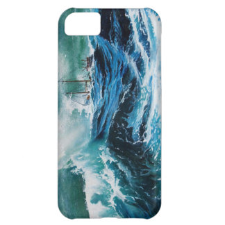 Ship In the Sea in Storm Cover For iPhone 5C