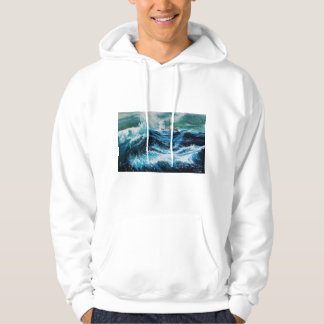 Ship In the Sea in Storm Hoodie