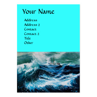 Ship In the Sea in Storm Large Business Card