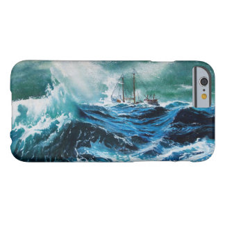Ship In the Sea in Storm / Navy Blue Barely There iPhone 6 Case