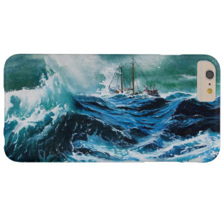 Ship In the Sea in Storm / Navy Blue Barely There iPhone 6 Plus Case