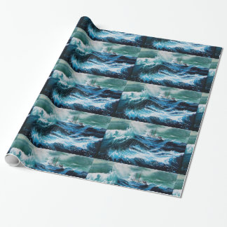 Ship In the Sea in Storm Gift Wrap Paper