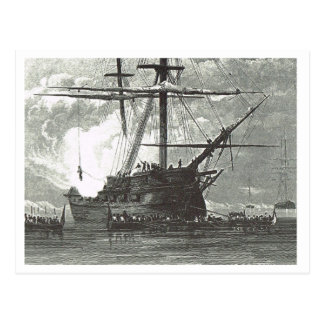 Ship in the shallows 1800s postcard