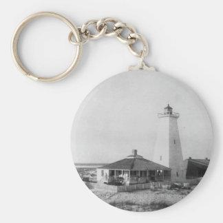 Ship Island Lighthouse Basic Round Button Keychain
