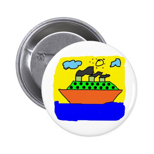Ship - Kids Painting 2 Inch Round Button