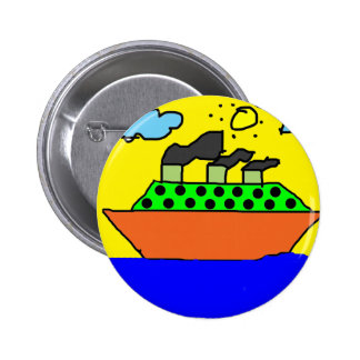 Ship - Kids Painting Button