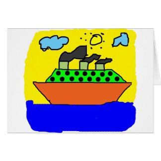 Ship - Kids Painting Card