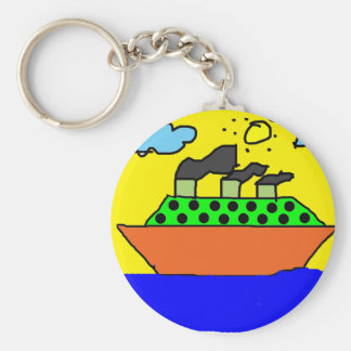 Ship - Kids Painting Keychains