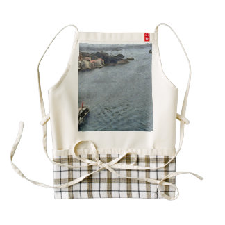 Ship leaving Sydney Zazzle HEART Apron