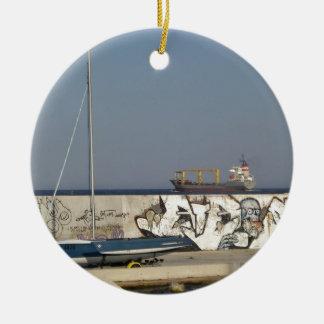Ship Leaving Varna Ceramic Ornament