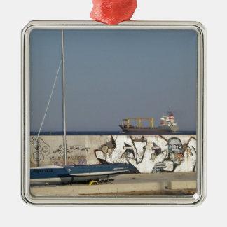 Ship Leaving Varna Metal Ornament