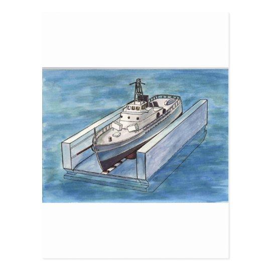 Ship Lift Postcard