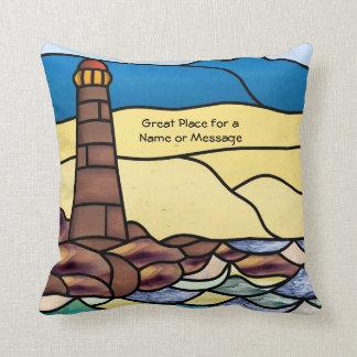 Ship & Lighthouse Pillow