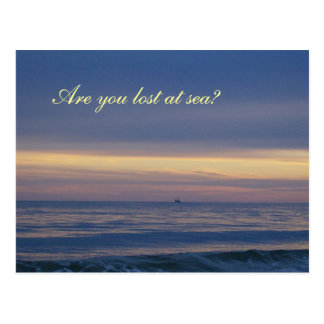 Ship Lost At Sea Scenery Postcard