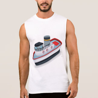 Ship Mens Singlet Sleeveless Shirt