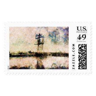 Ship, naval ship, vintage, Navy, marine art stamp