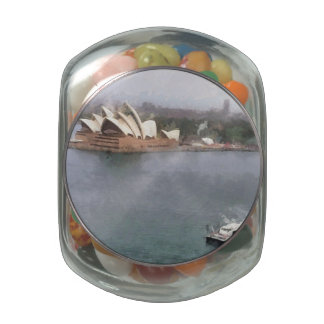 Ship near Sydney Opera House Glass Jars