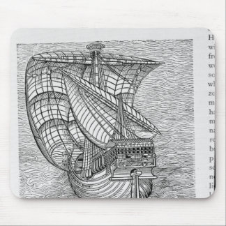 Ship of Columbus' Time' Mouse Pad