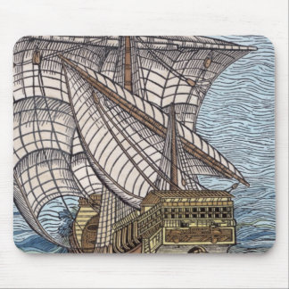 Ship of Columbus'Time' Mouse Pad