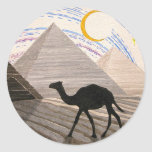 Ship of the Desert Round Stickers