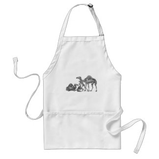 Ship of the Desert - Skeleton Camels At Rest Adult Apron