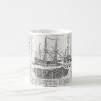 Ship of War, Third Rate, Rigging Historical Mug
