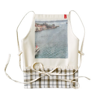 Ship off Sydney Zazzle HEART Apron