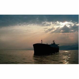 Ship on calm sea, Italy Cutout