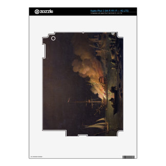 Ship on Fire at Night, c.1756 (oil on canvas) iPad 3 Decal