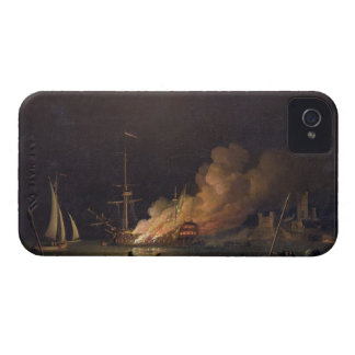 Ship on Fire at Night, c.1756 (oil on canvas) iPhone 4 Cover