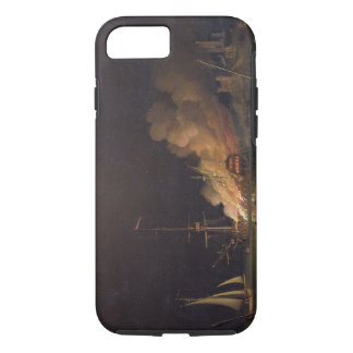 Ship on Fire at Night, c.1756 (oil on canvas) iPhone 8/7 Case