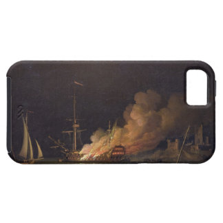 Ship on Fire at Night, c.1756 (oil on canvas) iPhone SE/5/5s Case