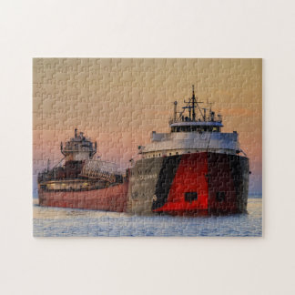 Ship on Lake Superior Jigsaw Puzzle