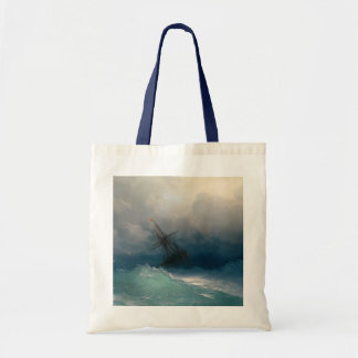 Ship on Stormy Seas Tote Bags