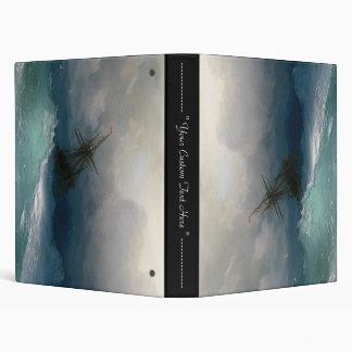 Ship on Stormy Seas Ivan Aivazovsky seascape storm 3 Ring Binder