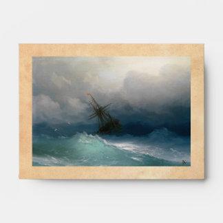 Ship on Stormy Seas Ivan Aivazovsky seascape storm Envelope