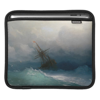 Ship on Stormy Seas Ivan Aivazovsky seascape storm Sleeve For iPads