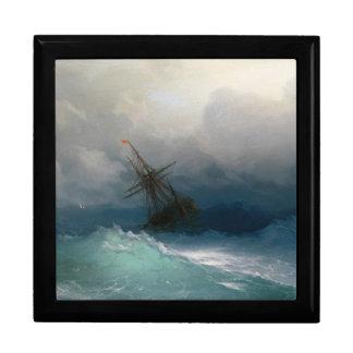 Ship on Stormy Seas Ivan Aivazovsky seascape storm Jewelry Box