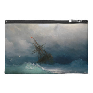 Ship on Stormy Seas Ivan Aivazovsky seascape storm Travel Accessory Bag