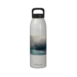 Ship on Stormy Seas Ivan Aivazovsky seascape storm Water Bottles
