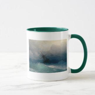 Ship on Stormy Seas Mug