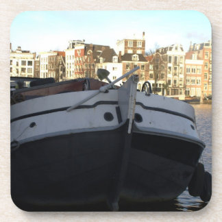 Ship on the Amstel River, Amsterdam Drink Coaster